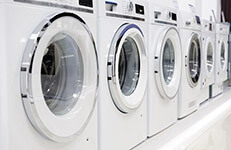 dryers, washing machines, dryer and other domestic appliance equipment in the store